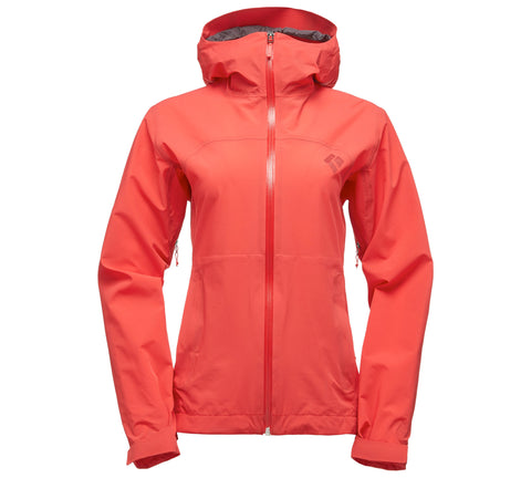Black Diamond Womens Stormline Stretch Rain Shell