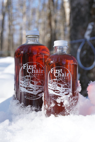 First Chair Maple Syrup Grade A Amber 8 oz Signature Bottle