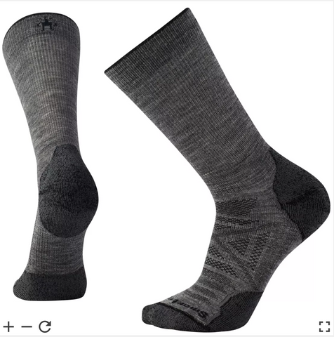 Smartwool PhD Outdoor Light Hiking Crew Socks - Gray