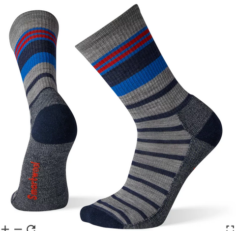 Smartwool Men's Striped Light Hiking Crew Socks