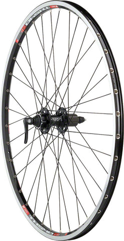 Quality Wheels XT/TK540 Rear Wheel - 700, QR x 135mm, 6-Bolt Disc,Rim Brake, HG 10, Black, Clincher