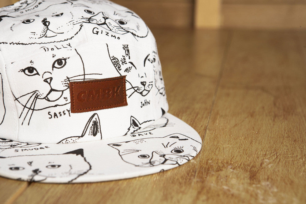 CMBK Cat Hat 5 Panel Cap (White)