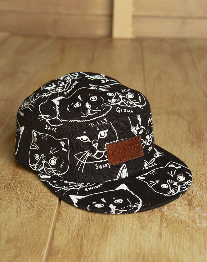 CMBK Cat Hat 5 Panel Cap (Black)