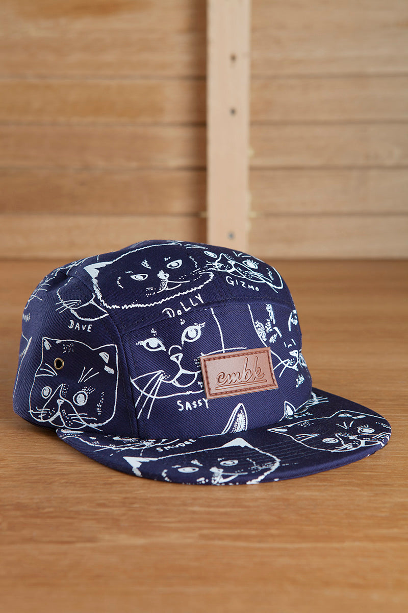 CMBK Cat Hat 5 Panel Cap (Navy)