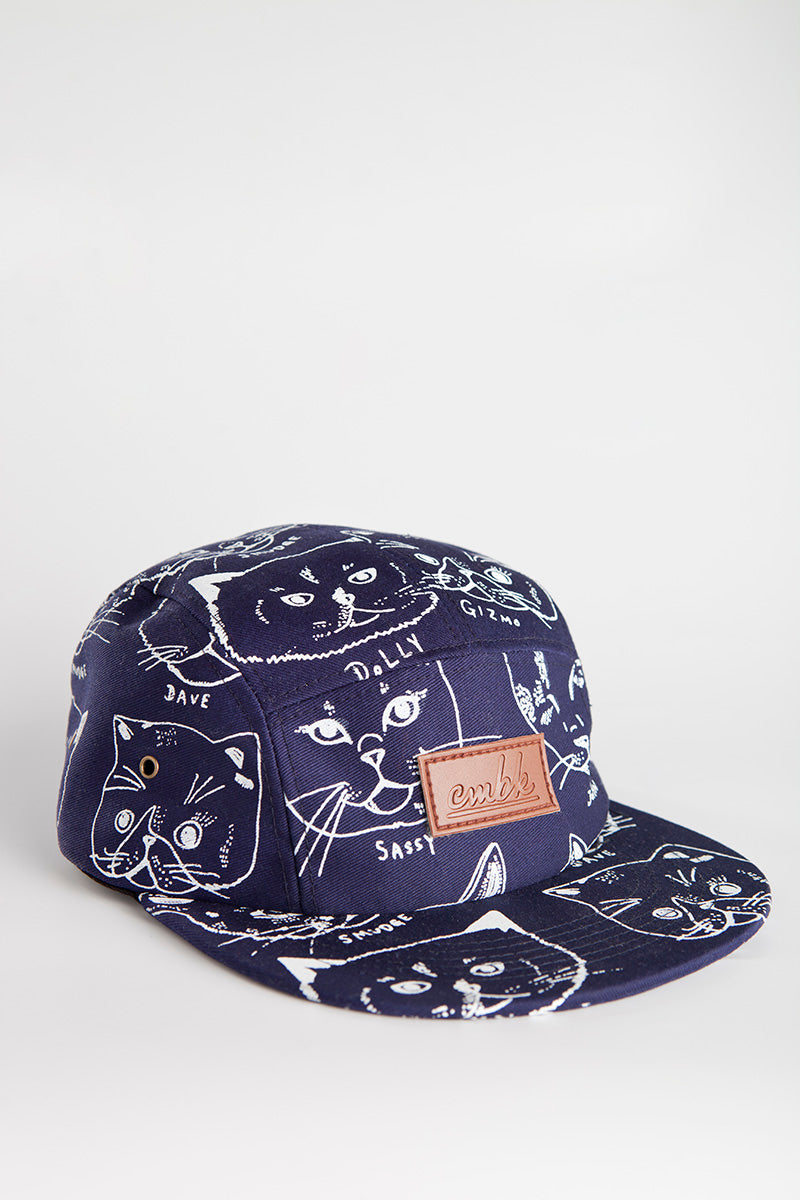 313d5b3d8d49c CMBK Cat Hat 5 Panel Cap (Navy)