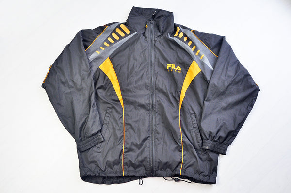 Vintage TEAM FILA Black Windbreak/Coach Jacket