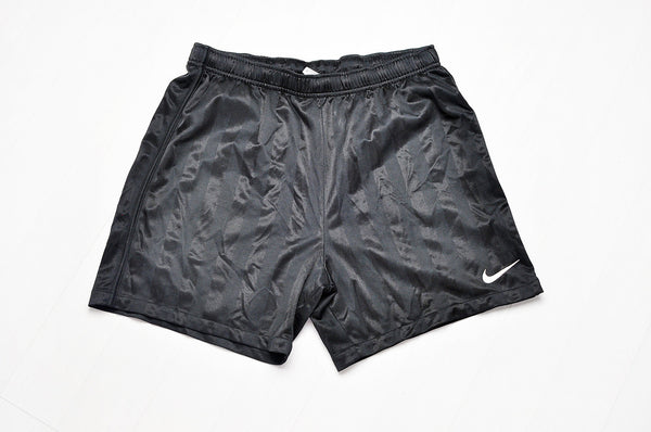 Vintage Black Nike White Swoosh Sports Legs Shorts