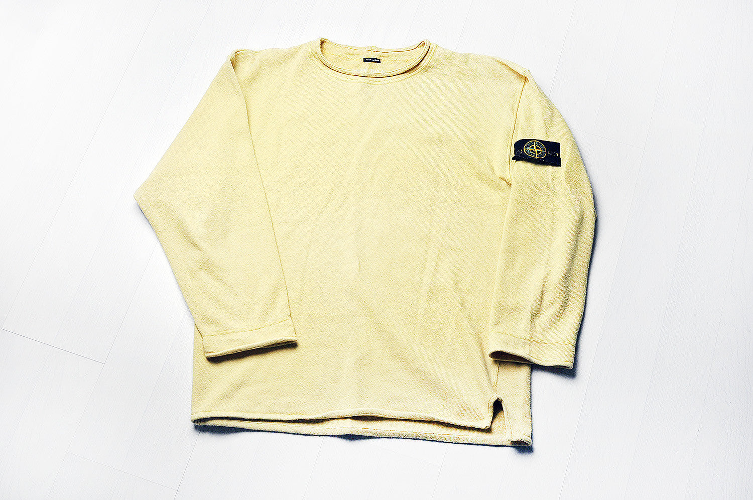 Vintage Stone Island Stone Yellow Knit Jumper/Sweater