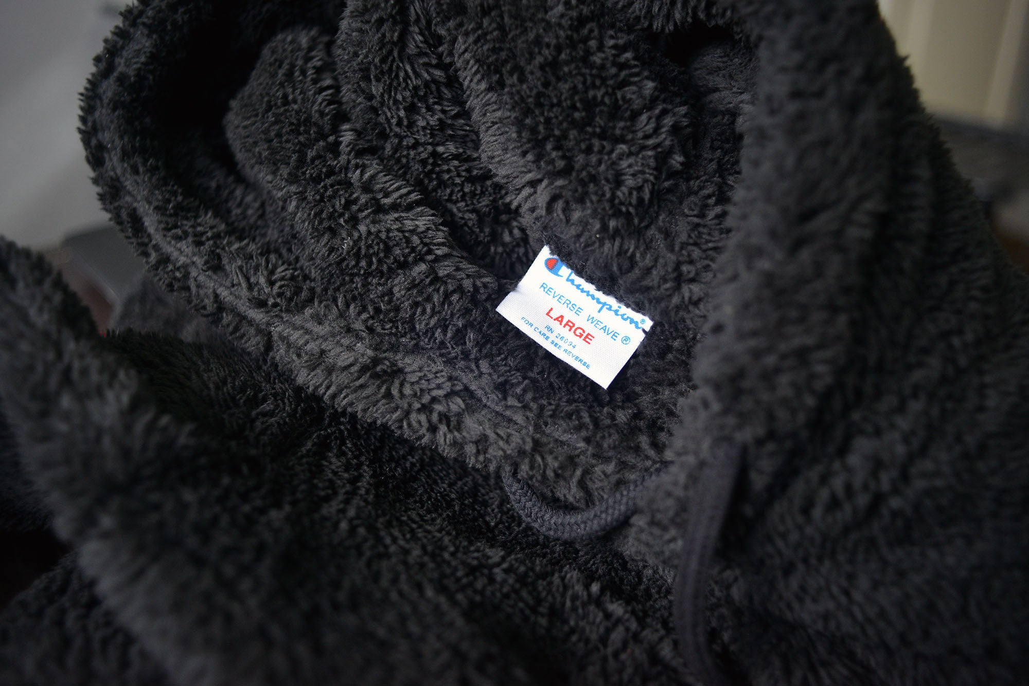 Champion Black Fleece Pullover Hoodie/Jumper (Japanese Exclusive)