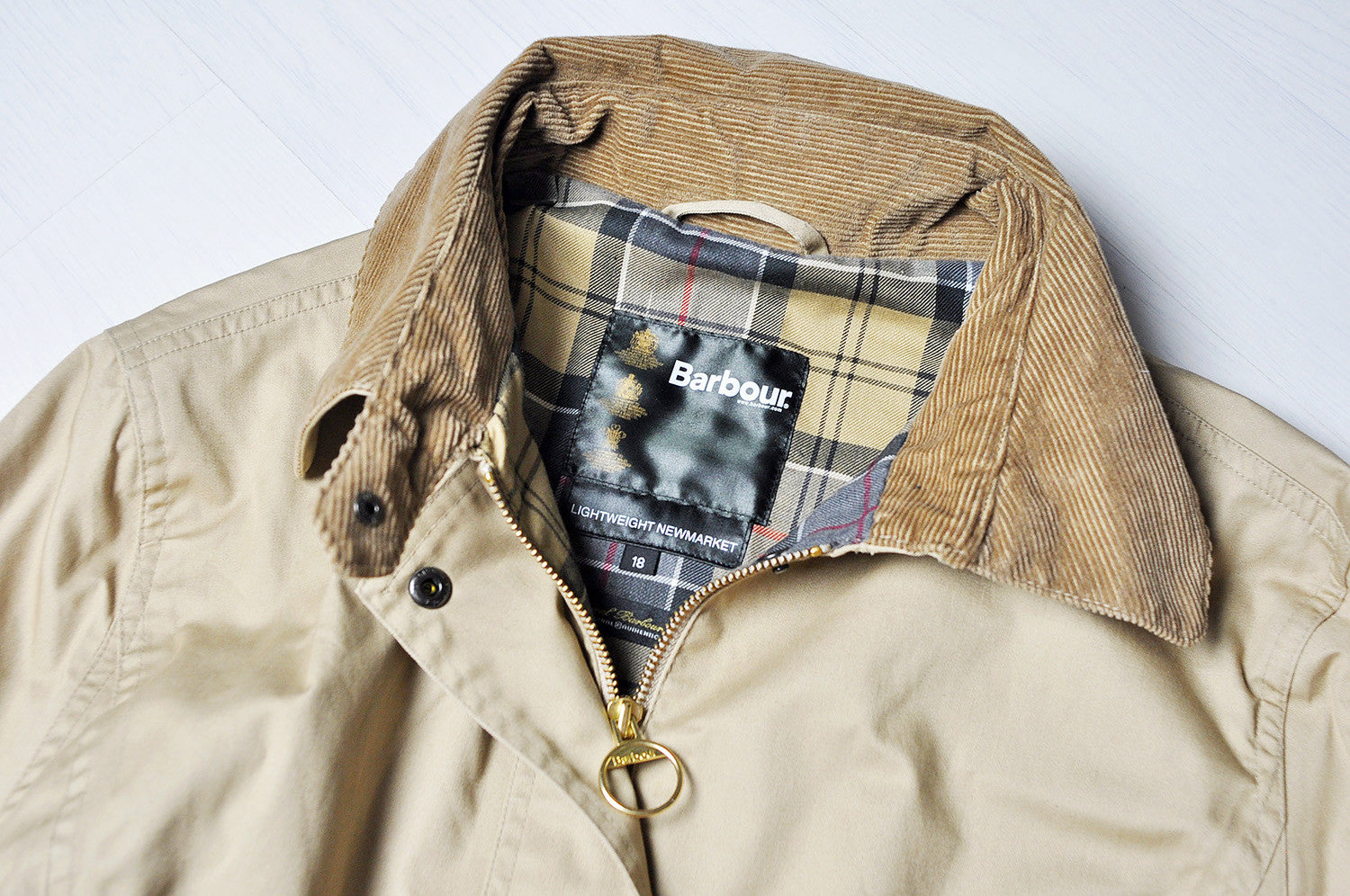 Vintage Original Barbour Tartan Tanned New Market Hunting Lightweight Jacket