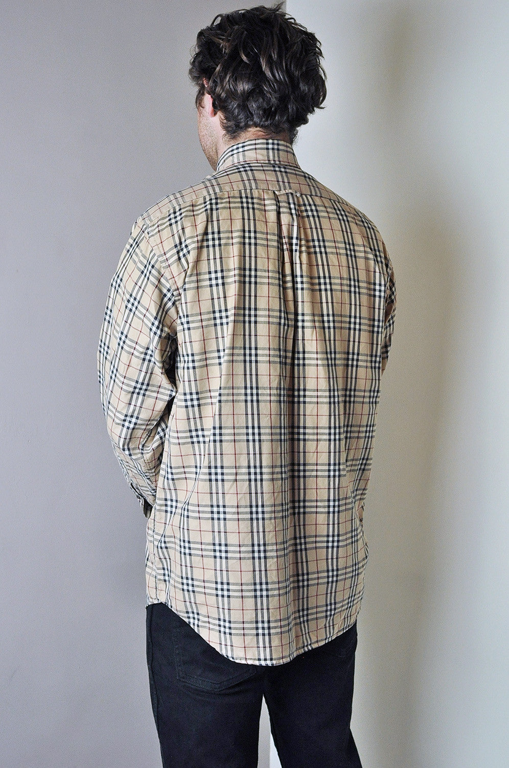 Vintage Burberry Classic Nova Check Long Sleeve Oxford Shirt