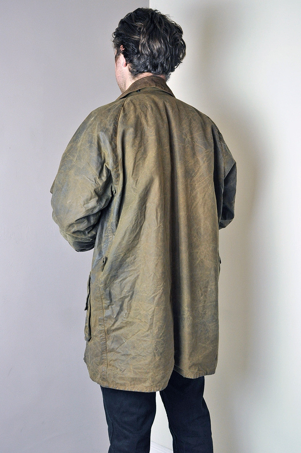 Vintage Barbour Waxed Olive Green Jacket