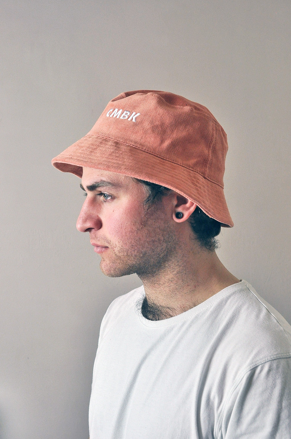 CMBK Peach Corduroy Bucket Hat