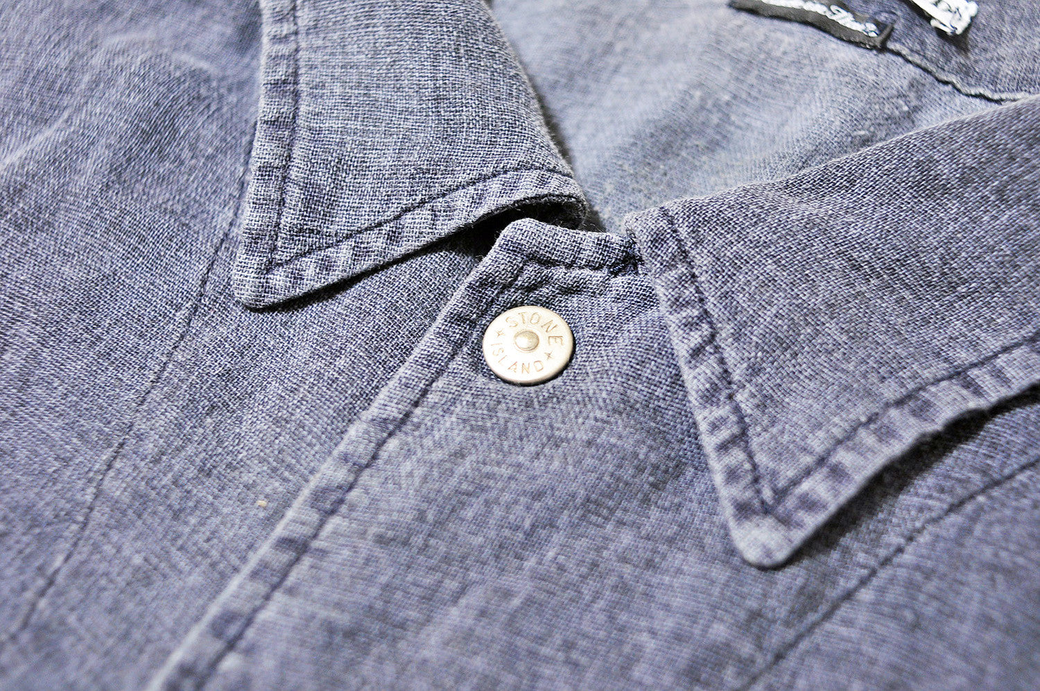 Vintage Stone Island Dark Grey/Blue Long Sleeve Shirt