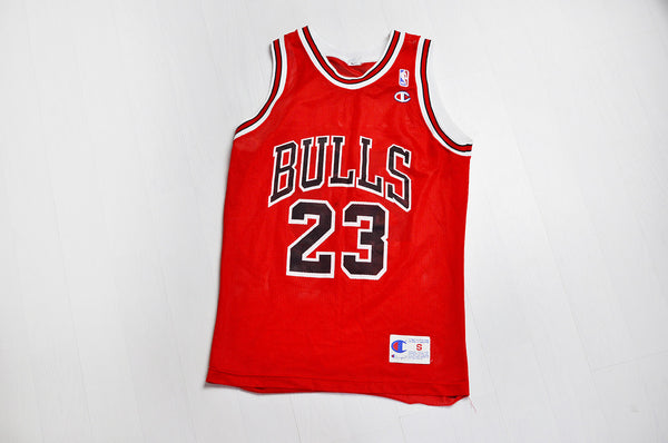 Vintage Champion Original Chicago Bulls 'Michael Jordan 23' Red/White Jersey