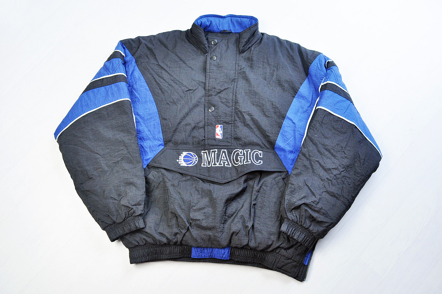 Vintage Orlando Magic Black/Blue Basketball Coach Pullover Jacket