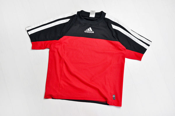 Vintage Adidas Original Black/Rose Red Sports Tee