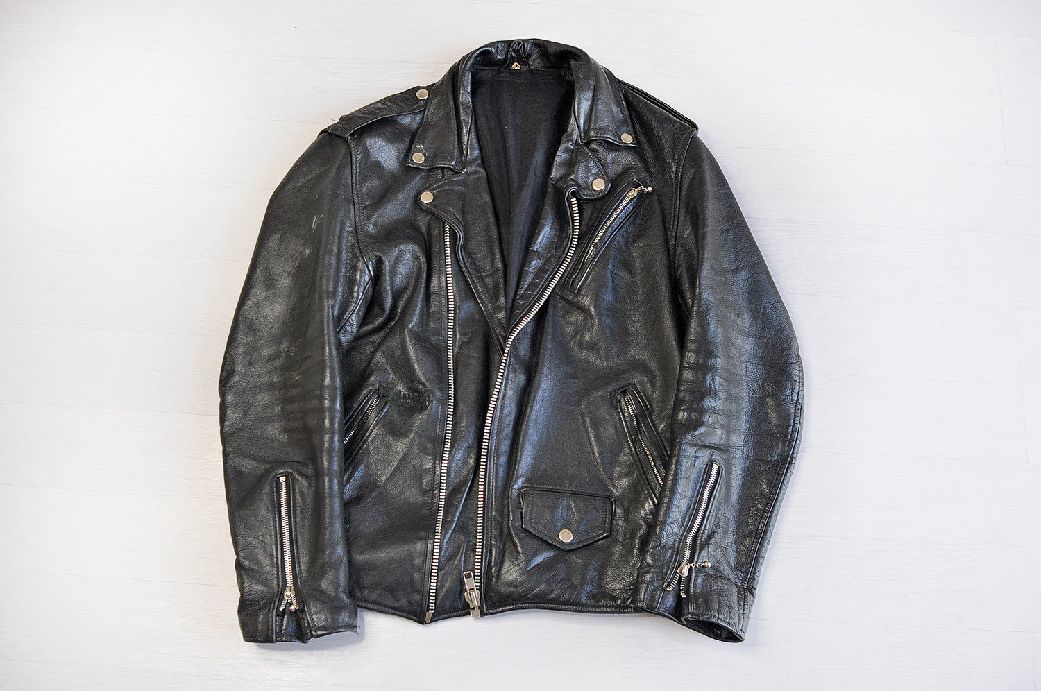Vintage Leather Perfecto Black Biker Jacket