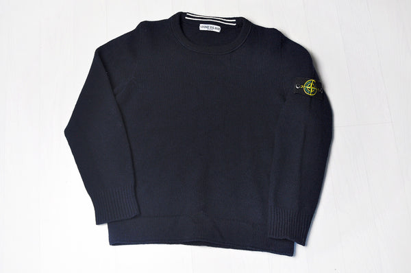 Stone Island Lana Wool Dark Navy/Black Jumper/Sweater