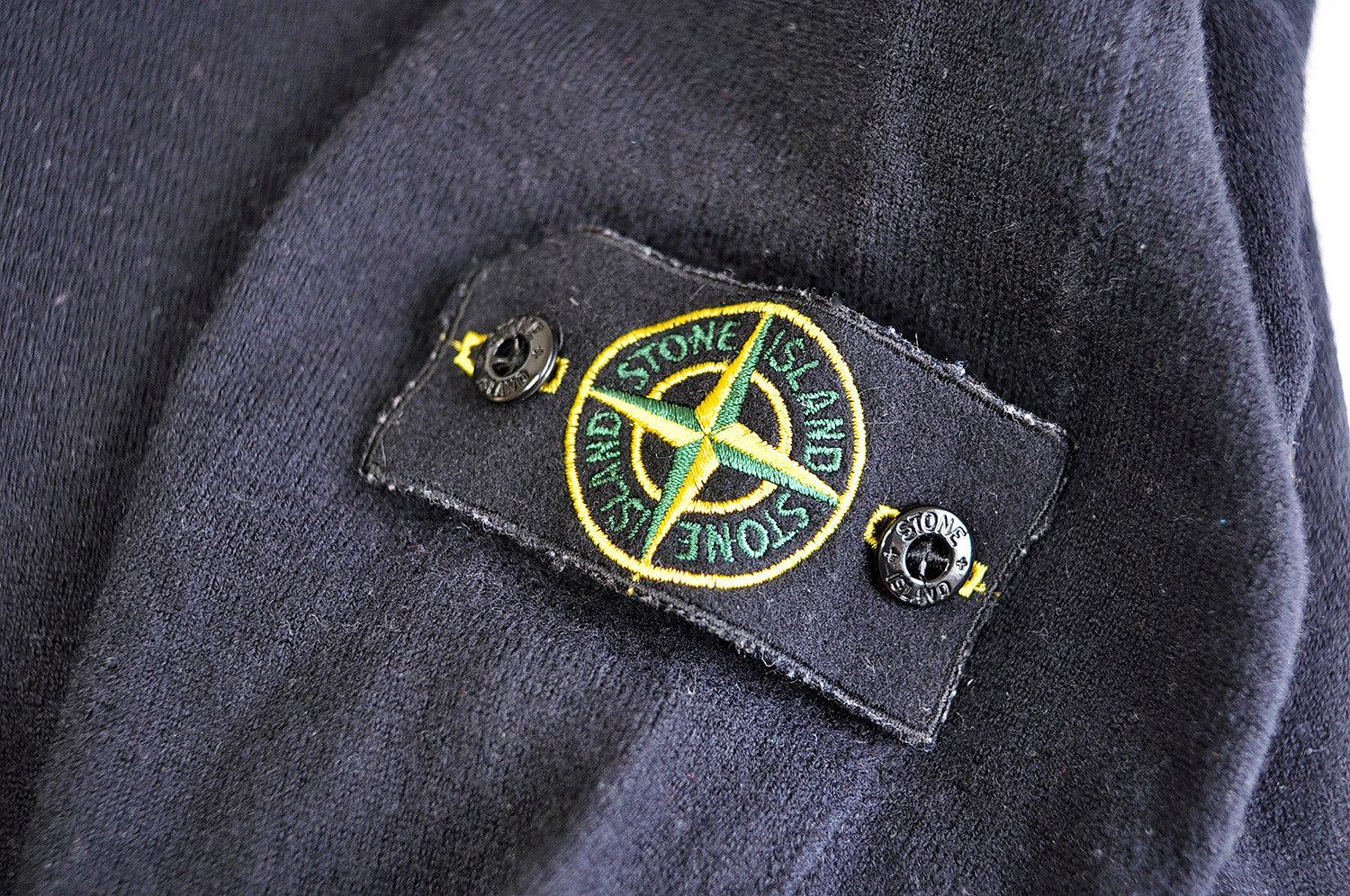 Vintage Stone Island Lana Wool Black Jumper/Sweater
