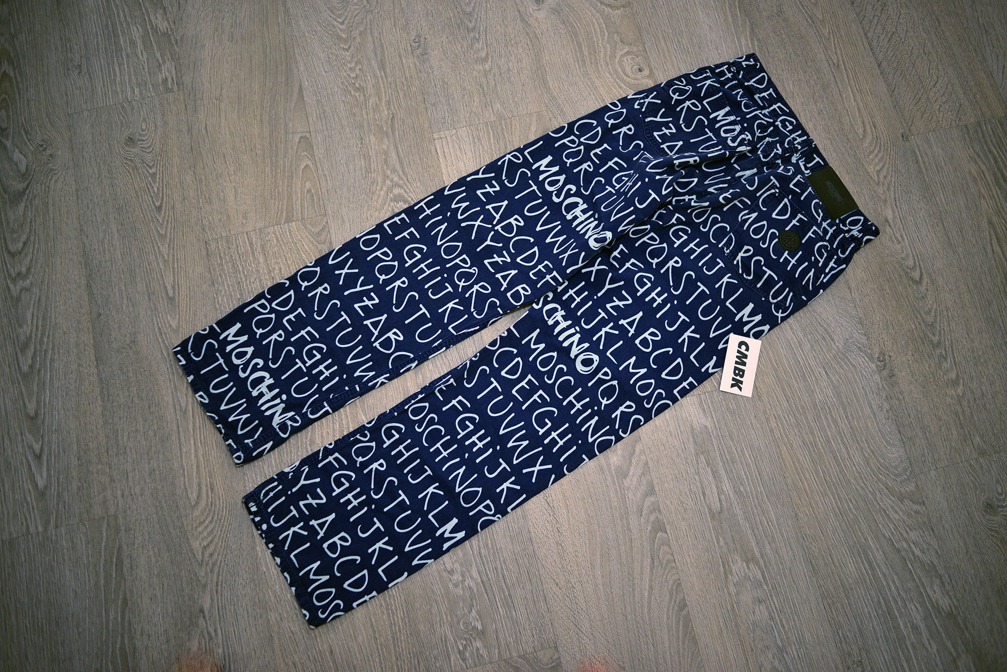 Moschino Alphabet Dark Navy Trousers/Bottoms