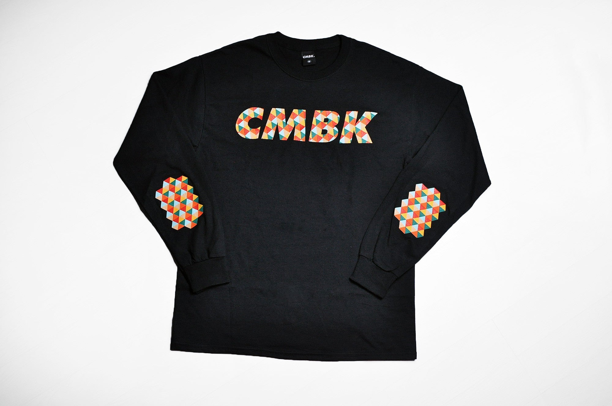 CMBK Red Harlequin Black Long Sleeve Tee