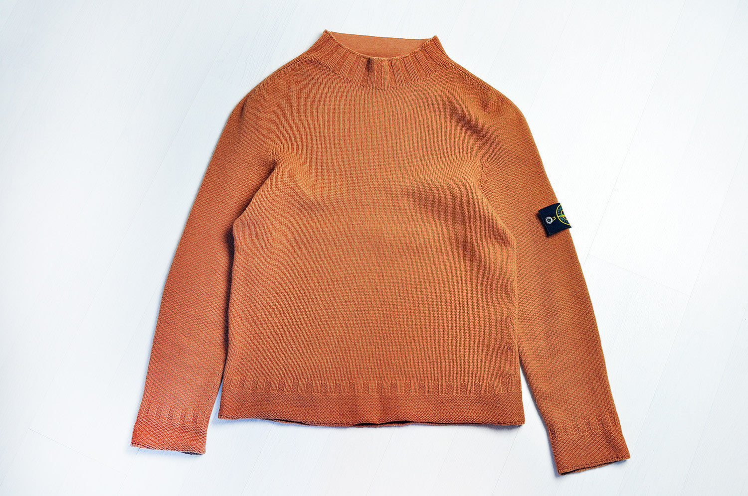 Vintage Stone Island Rustic Orange Lana Wool Knit Jumper/Sweater