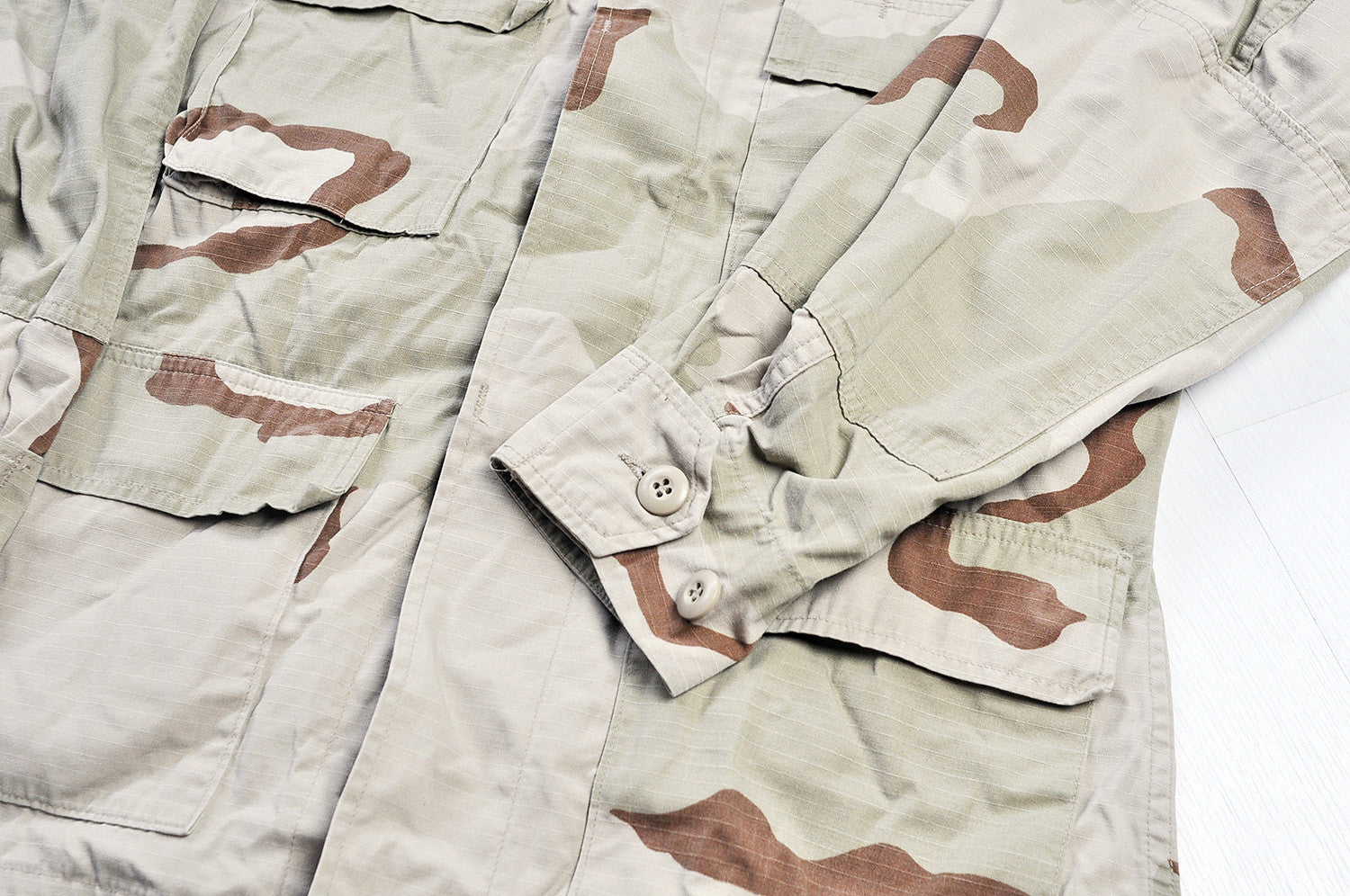 Vintage Tanned Dessert Camo Heavy Shirt Jacket