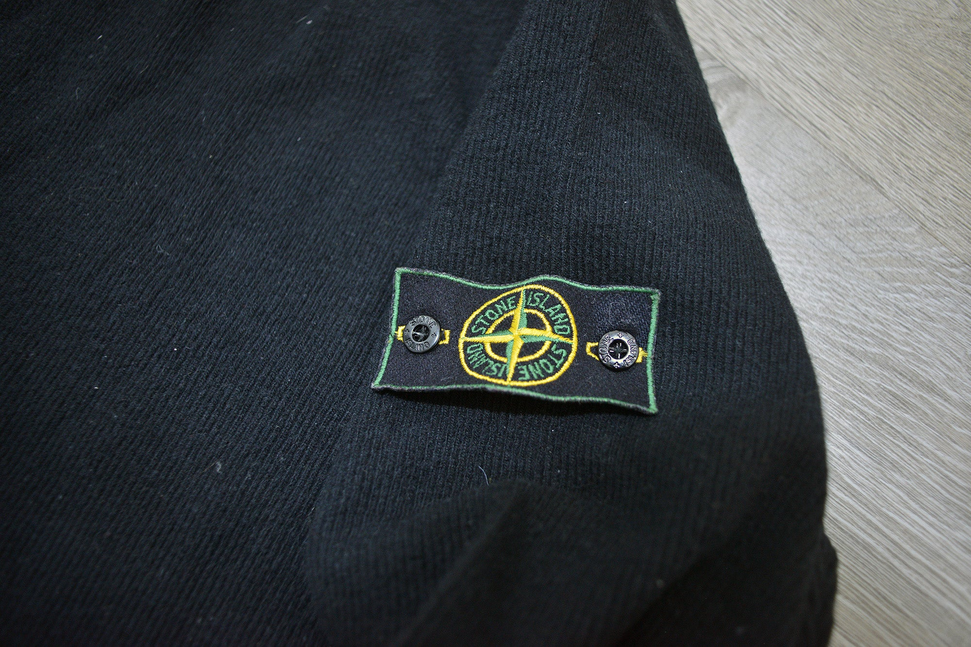 Vintage Stone Island Black Knit Lana Wool Jumper/Sweater