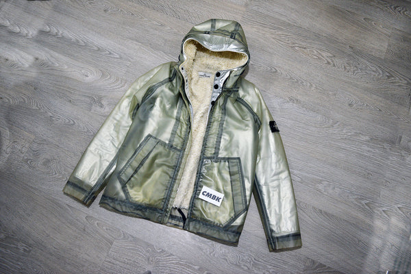 Stone Island Poly Cover Composite Jacket, Grey/White Sheer Lining