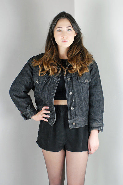Vintage Martine Sitbon Black Denim Jacket