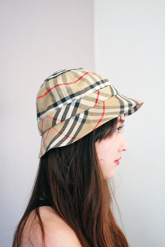 Vintage Burberry Nova Check Bucket Hat