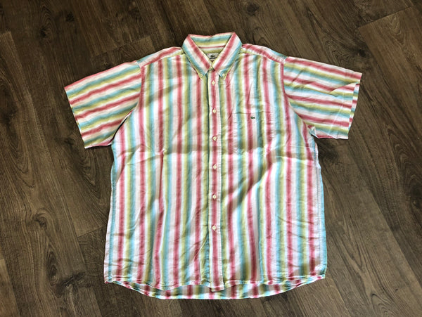 Vintage Lacoste Striped Summer Shirt