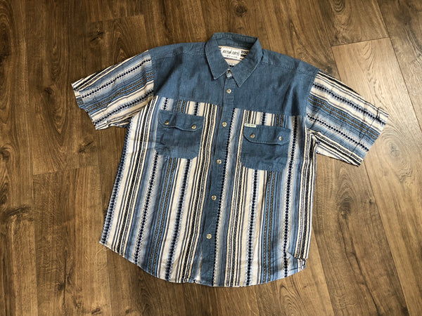 Vintage Stripe Cord Short Sleeve Shirt