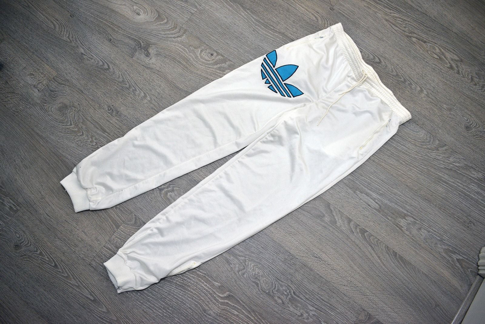 Vintage Adidas Big Logo White Track Pants/Bottom
