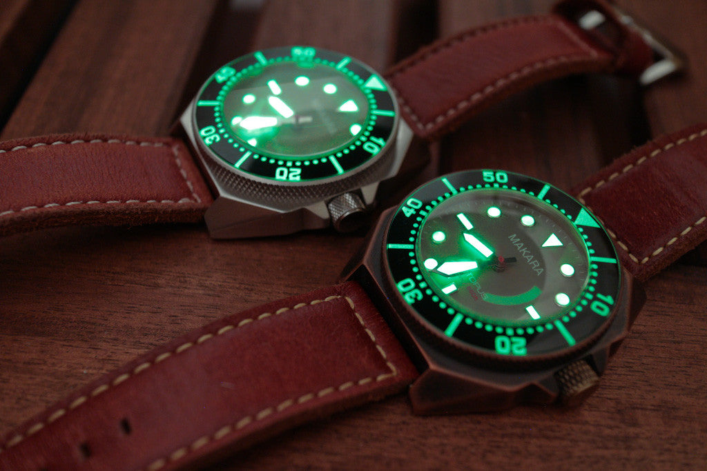 Makara Octopus bronze dive watch