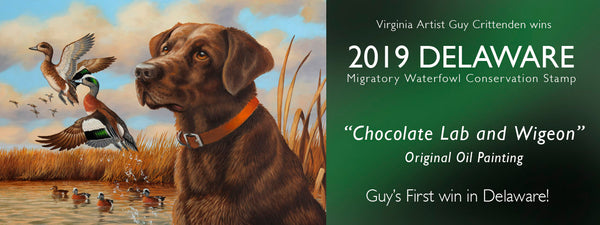 Guy wins 2019 Delaware Duck Stamp!