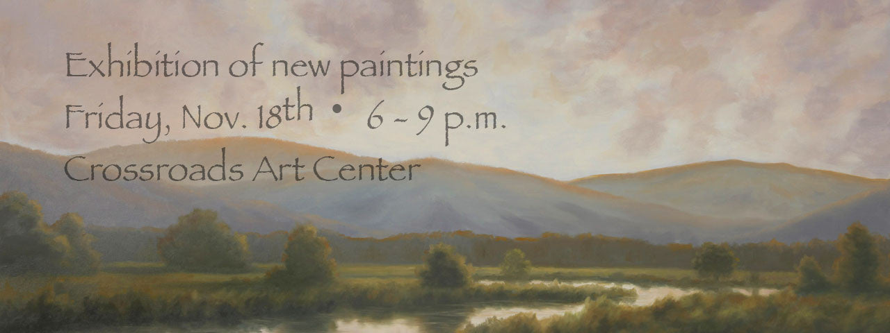 Exhibition of New Paintings at Crossroads Art Center in Richmond, Virginia