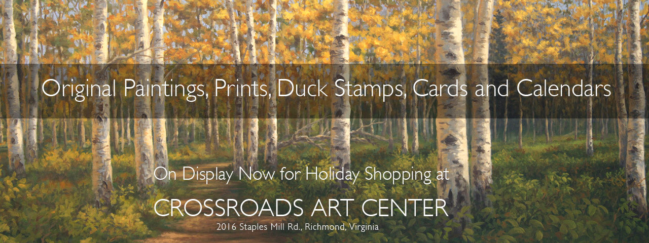 Holiday Shoppers!  20% Off any art purchase over $100.  This week only!  Visit our gallery at Crossroads Art Center!