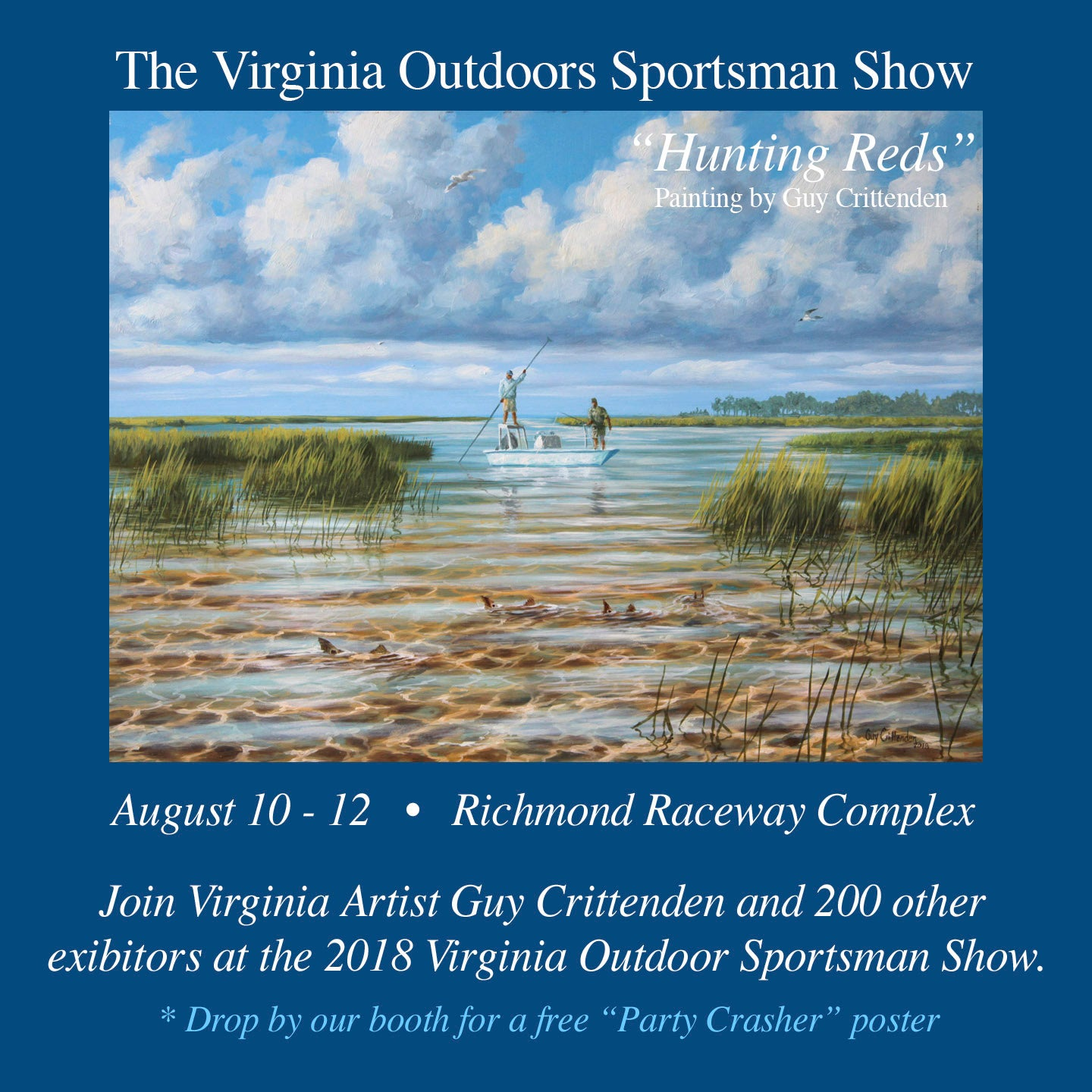 Artist Guy Crittenden showing at Virginia Outdoor Sportsman Show