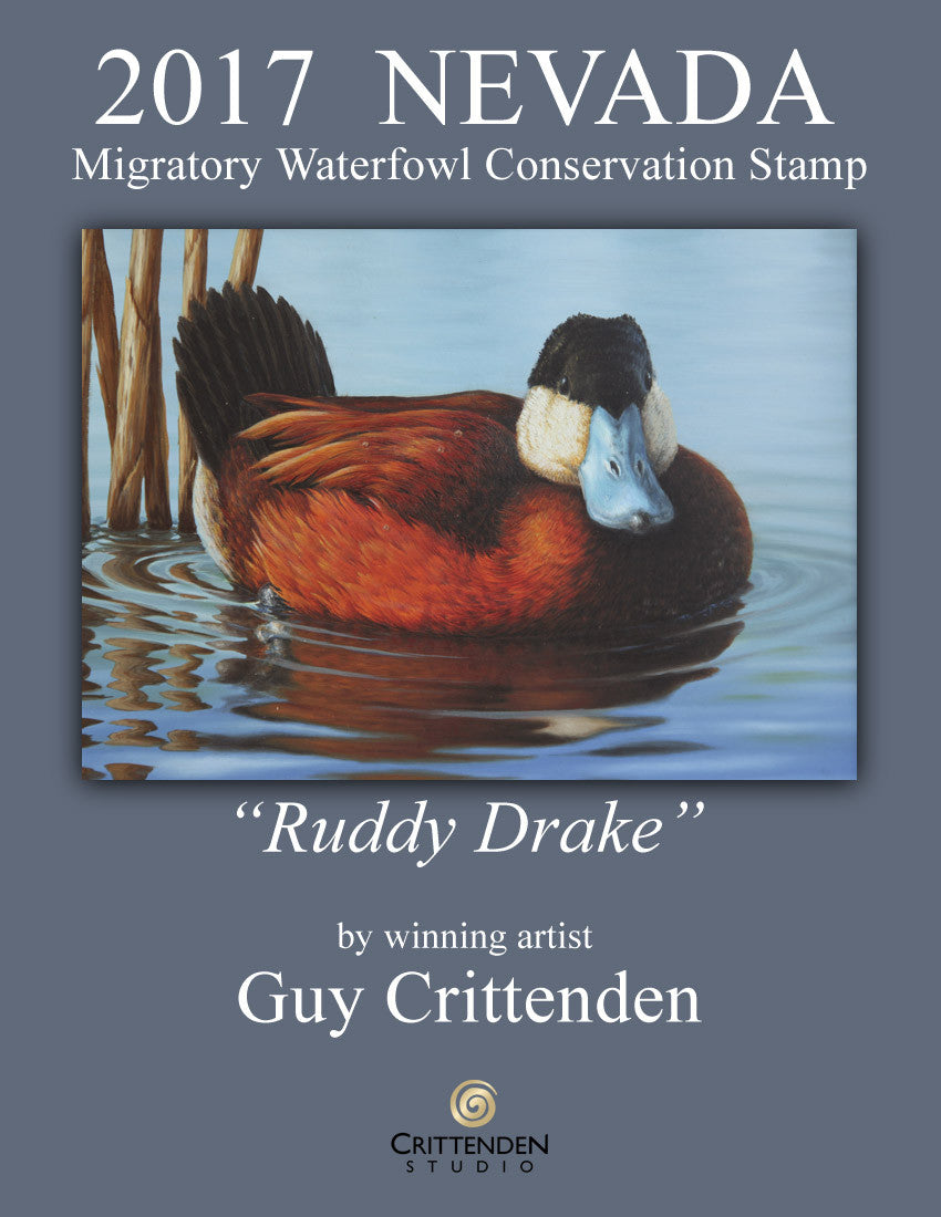 2017 Nevada Duck Stamp designed by Virginia wildlife artist Guy Crittenden