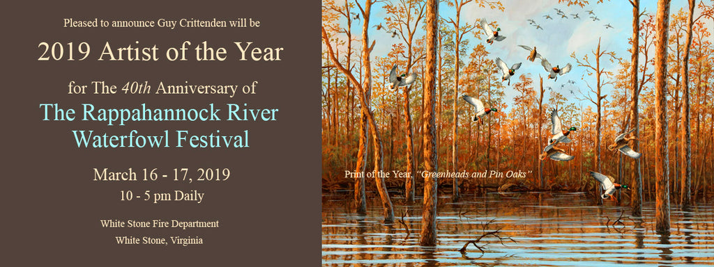 "Guy named ""Artist of the Year"" for 40th Rappahannock River Waterfowl Show"