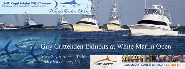 Guy Crittenden Exhibits Sport Fish Art at White Marlin Open
