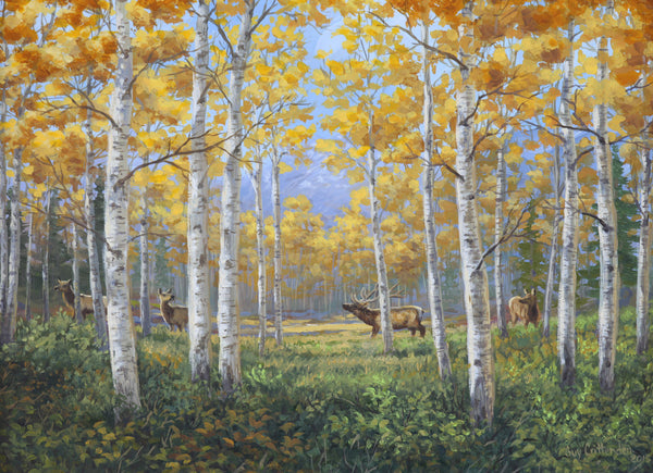"""Aspen Meadow"" - North American Elk"