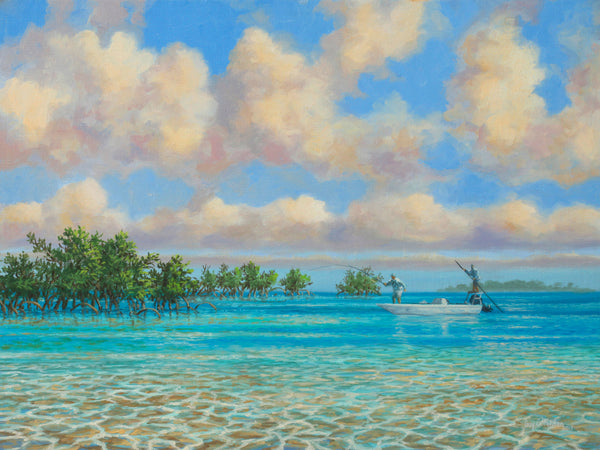 """Bahamas Bone Fishing"" -  Original Painting SOLD"