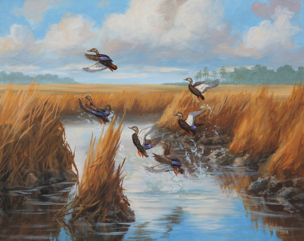 """Black Duck Jump"" -  Mattaponi River - SOLD"