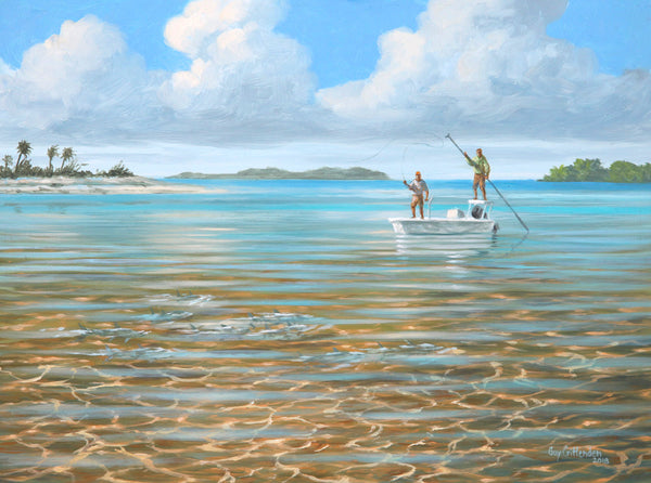 """Coming At Us""  -  Fly fishing for Bone Fish - SOLD"