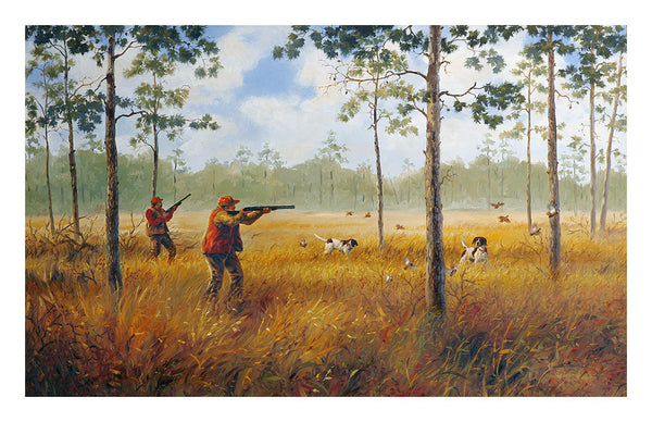 """Split Covey""  Quail Hunters - SOLD"