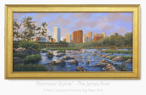 """Richmond Skyline""  -   The James River"