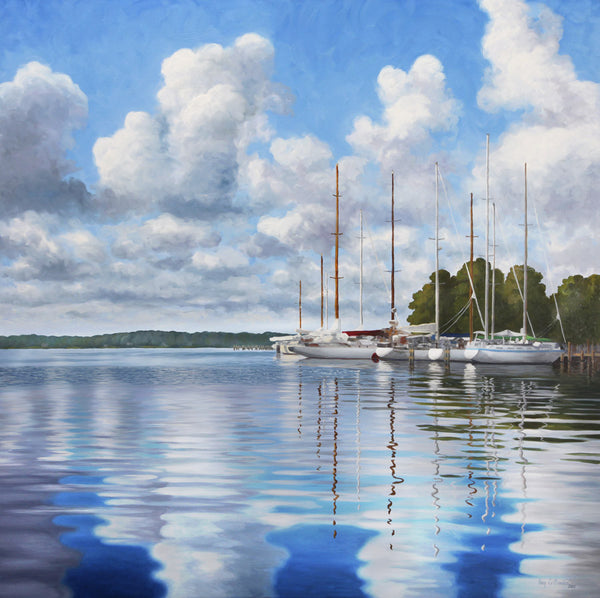 """Reflections on Fishing Bay"" - SOLD"